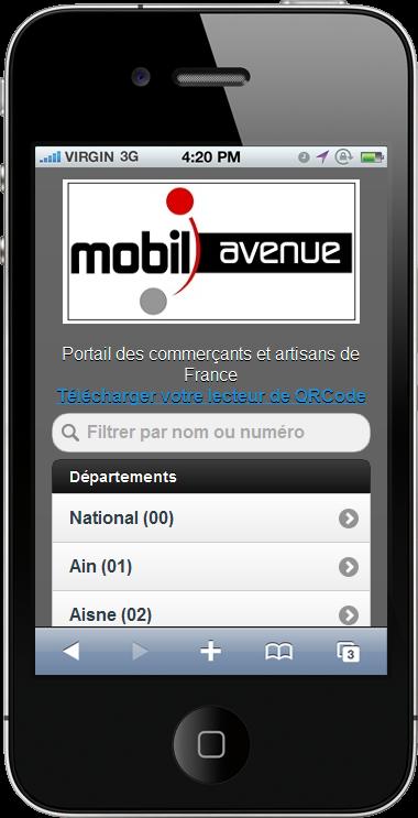 Mobil Avenue: portail des commerçants et artisans