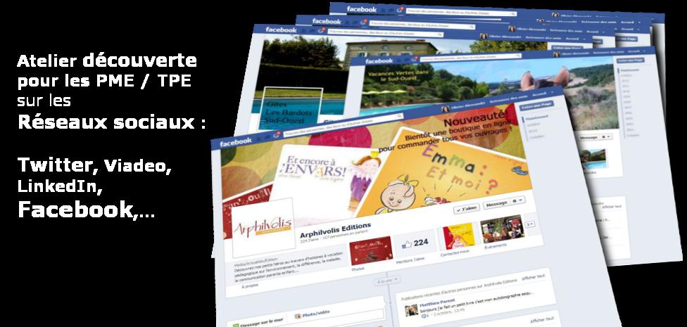 Atelier découverte reseau sociaux: facebook, twitter