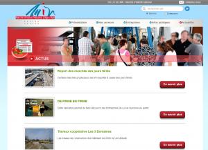 Création du site web sur mesure pour le M.I.N Agen : espace  actualités