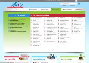 Création du site web sur mesure pour le M.I.N Agen : menu large